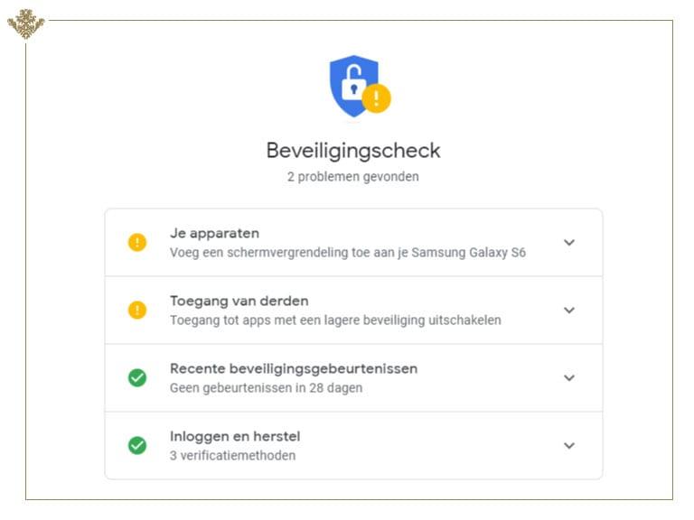 beveiligingscheck google